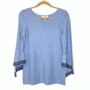 NWOT Laurie Felt Cascade Sleeve Sweater Blue XS